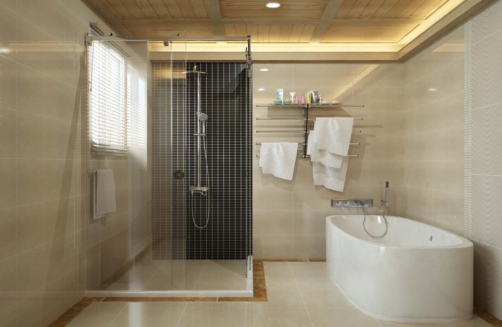L type clip shower room door